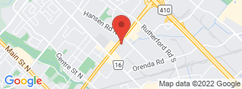 Google Map of 243+Queen+St+East%2CBrampton%2COntario+L6W+2B5