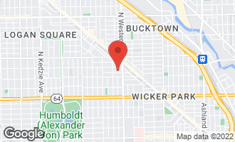Map of 2430 West Moffat Street CHICAGO, IL 60647