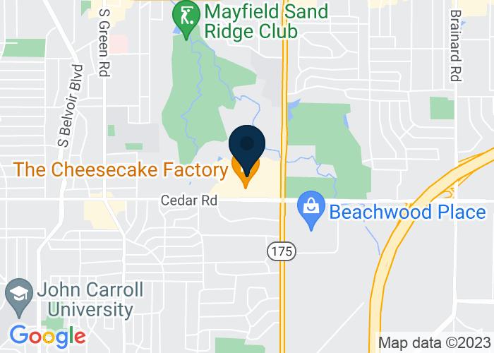 Map of 24337 Cedar Road, Lyndhurst, OH 44124