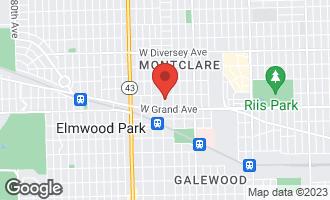 Map of 2439 North Sayre Avenue CHICAGO, IL 60707