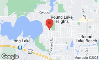 Map of 24473 Oak Street ROUND LAKE, IL 60073