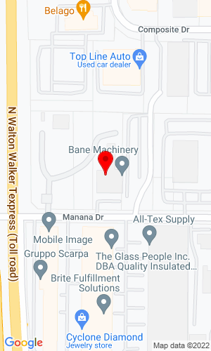 Google Map of Bane Machinery 2449 Manana Drive, Dallas, TX, 75220