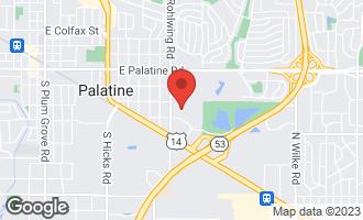 Map of 245 South Park Lane #425 Palatine, IL 60074