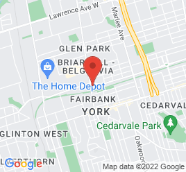 Google Map of 2451+Dufferin+Street%2CToronto%2COntario+M6B+3P6