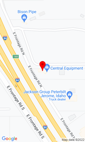 Google Map of Central Equipment Company  246 E Frontage Road N, North Jerome, ID, 83338