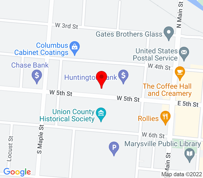 Click to view Google maps office address 246 West 5th Street, Suite 102, Marysville, OH 43040