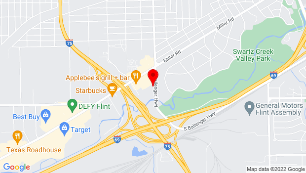 Google Map of 2462 S. Ballenger Highway, Flint, MI 48507