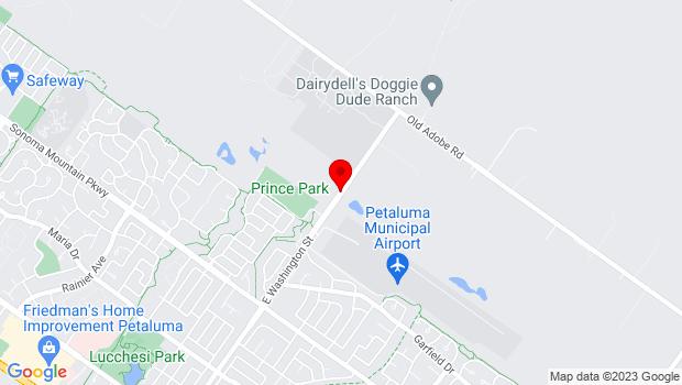 Google Map of 2478 E. Washington Blvd, Petaluma, CA 94954