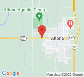Google Map of 248+Centre+Ave%2CAltona%2CManitoba+R0G+0B0