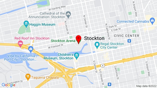 Google Map of 248 W Fremont St., Stockton, CA 95203
