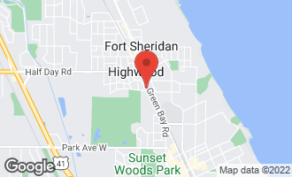 Map of 2480 Green Bay Road HIGHLAND PARK, IL 60035
