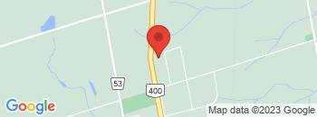 Google Map of 2484+Doral+Drive%2CInnisfil%2COntario+L9S+0A3
