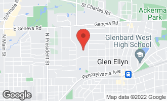 Map of 249 Linden Street GLEN ELLYN, IL 60137
