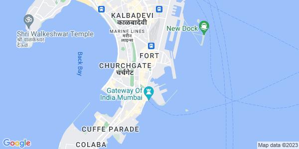 Google Map of 25%2C+Bank+Street%2C+1st+Floor%2C+Fort%2C+Mumbai