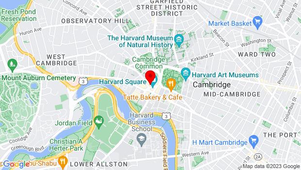 Google Map of 25 Brattle Street, Cambridge, MA 02138