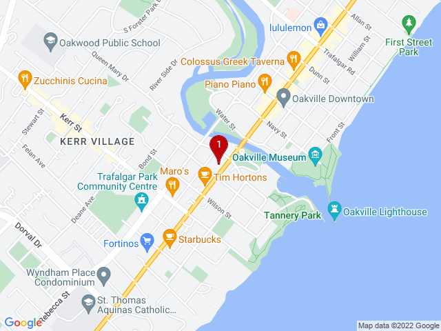 Google Map of Oakville,ON