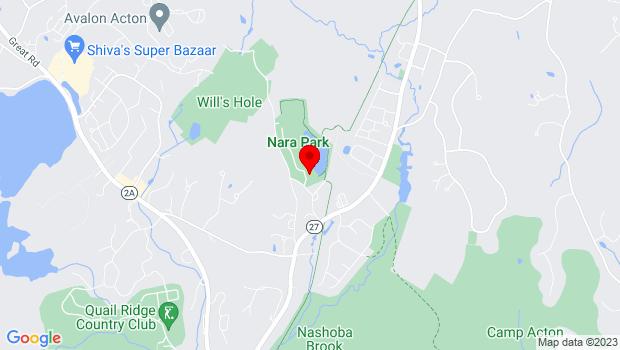 Google Map of 25 Ledge Rock Way, Acton, MA 01720