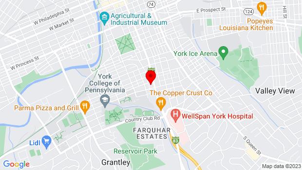 Google Map of 25 W. Springettsbury Avenue, York, PA 17403