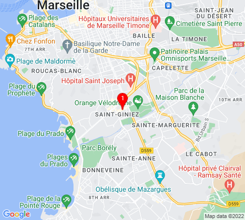 Google Map of 25 rue négresko, 13008 Marseille