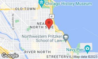 Map of 25 East Cedar Street CHICAGO, IL 60611