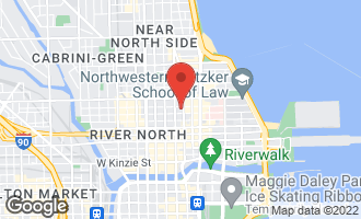 Map of 25 East Superior Street 11C Chicago, IL 60611