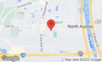 Map of 25 South Walnut Drive NORTH AURORA, IL 60542