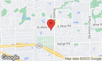 Map of 25 West Niagara Avenue SCHAUMBURG, IL 60193