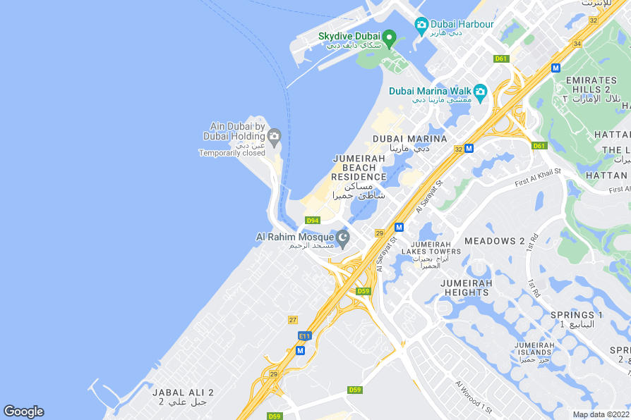 Nearest Metro Station To Jumeirah Beach Hotel