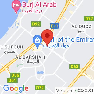 Map showing Cafe Rider (Dubai)