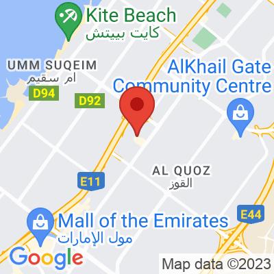 Map showing Nightjar Coffee Roasters (Dubai)