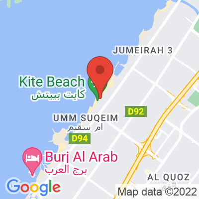 Map showing 91 Degrees Specialty Coffee (Kite Beach)