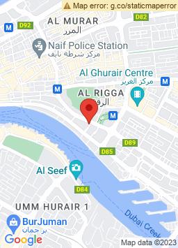 Google Map of فندق راديسون بلو، دبي الديرة كريك