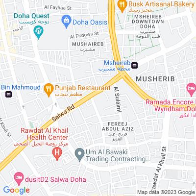 خريطة فندق فندق سراي المشيرب