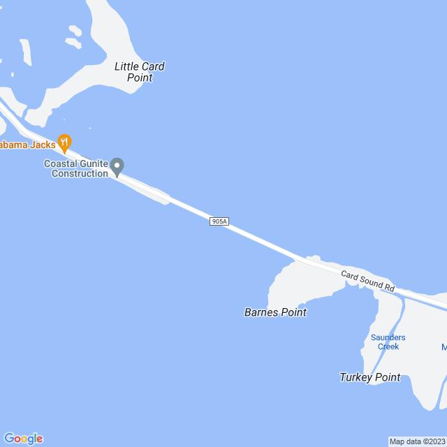 Map of Toll Road | Card Sound Bridge