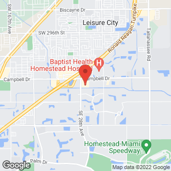 Map of Hair Cuttery at 2866 Ne 8th St, Homestead, FL 33033