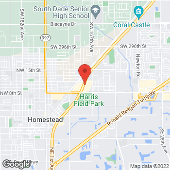 Map of Taco Bell at 987 North Homestead Blvd, Homestead, FL 33030