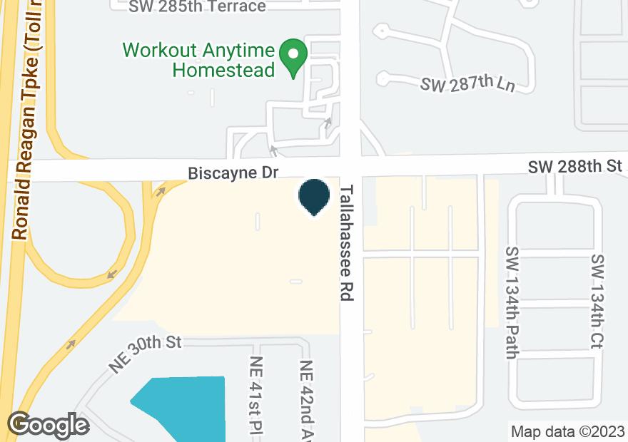 Google Map of3090 NE 43RD AVE