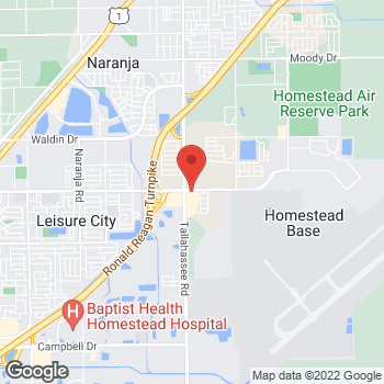 Map of Taco Bell at 13610 SW 288th St, Homestead, FL 33033