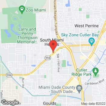 Map of Taco Bell at 11585 Quail Roost Drive, Miami, FL 33157