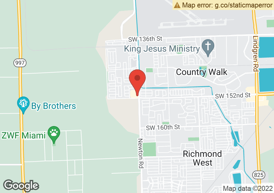 Google Map of 15711 SW 152ND ST