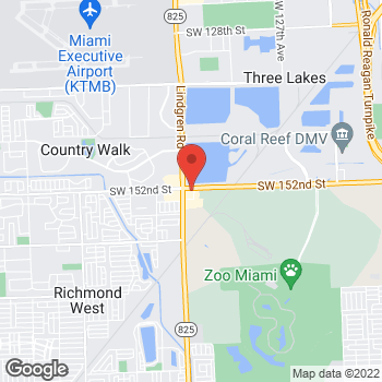 Map of Taco Bell at 13550 SW 152nd Street, Miami, FL 33177