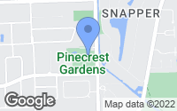 Map of Pinecrest, FL