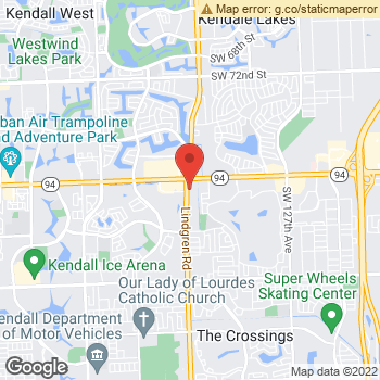 Map of Dr. Cia Ghavami at 13676 North Kendall Drive, Miami, FL 33186