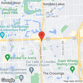 Map of Panera Bread at 13672 SW 88th St, Miami, Florida 33186