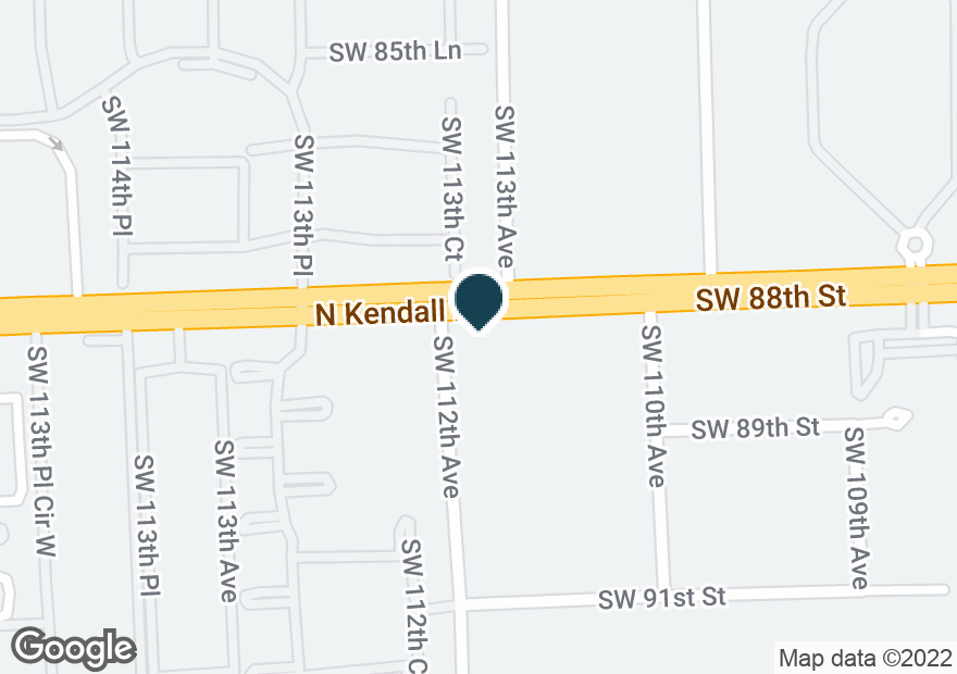 Google Map of11190 SW 88TH ST