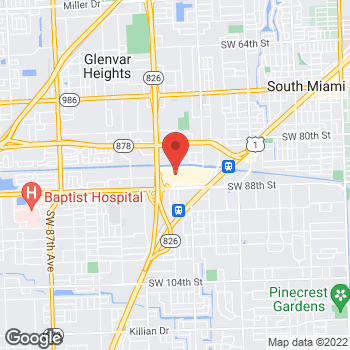Map of GUESS at 7513 North Kendall Drive, Miami, FL 33156