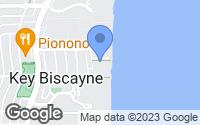 Map of Key Biscayne, FL
