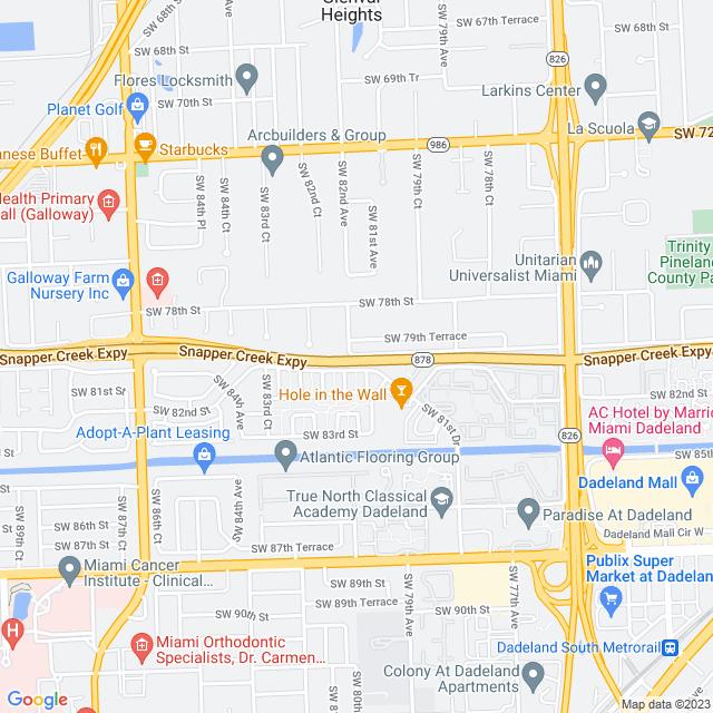 Map of Toll Road | Snapper Creek Expressway (SR 878)