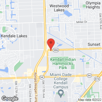 Map of Arby's at 11500 Sw 72nd St, Miami, FL 33173