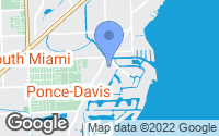 Map of Coral Gables, FL